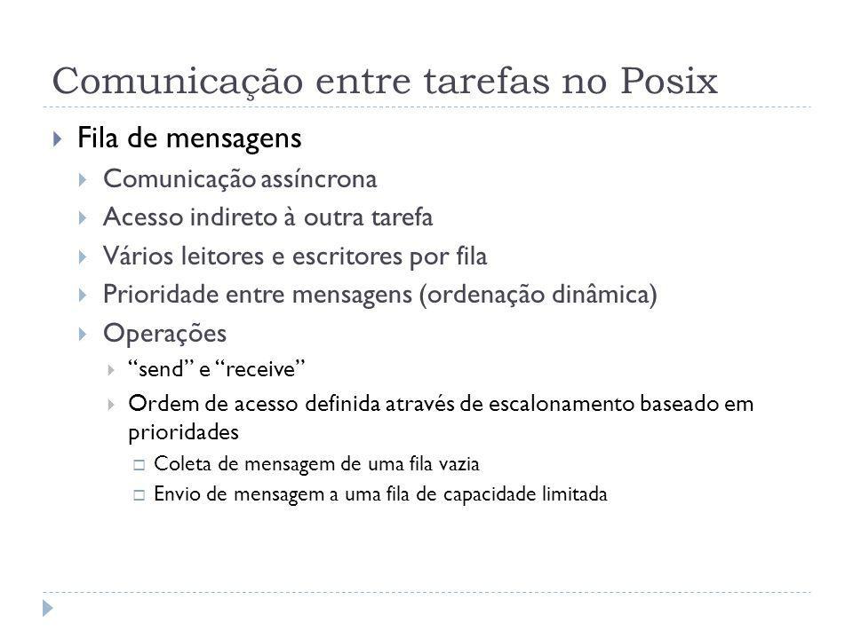 Comunicação entre tarefas no Posix