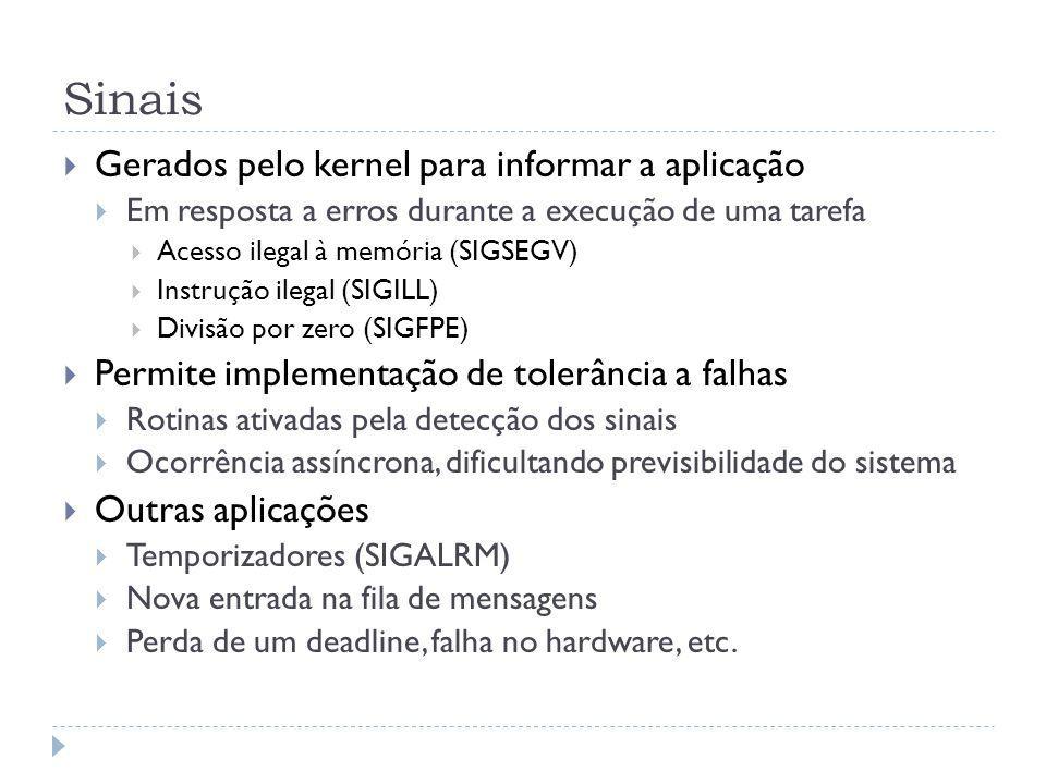 Sinais Gerados pelo kernel para informar a aplicação