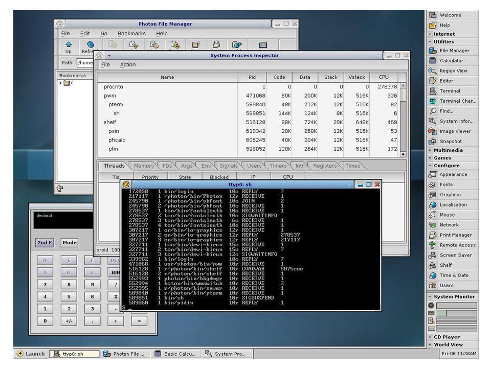 QNX Neutrino GUI