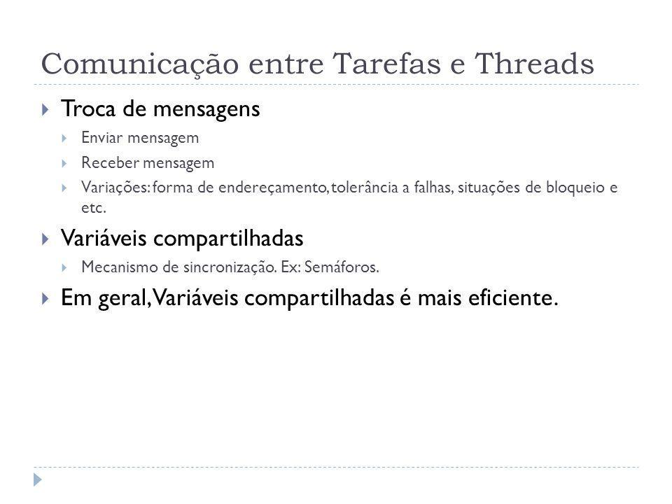 Comunicação entre Tarefas e Threads