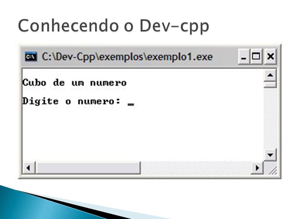 Conhecendo o Dev-cpp