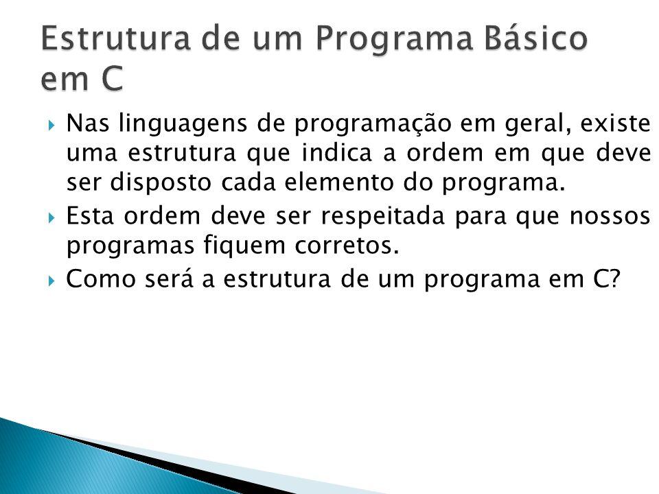 Estrutura de um Programa Básico em C