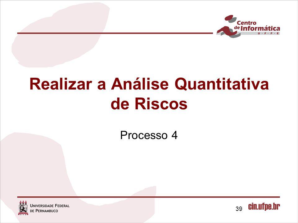 Realizar a Análise Quantitativa de Riscos