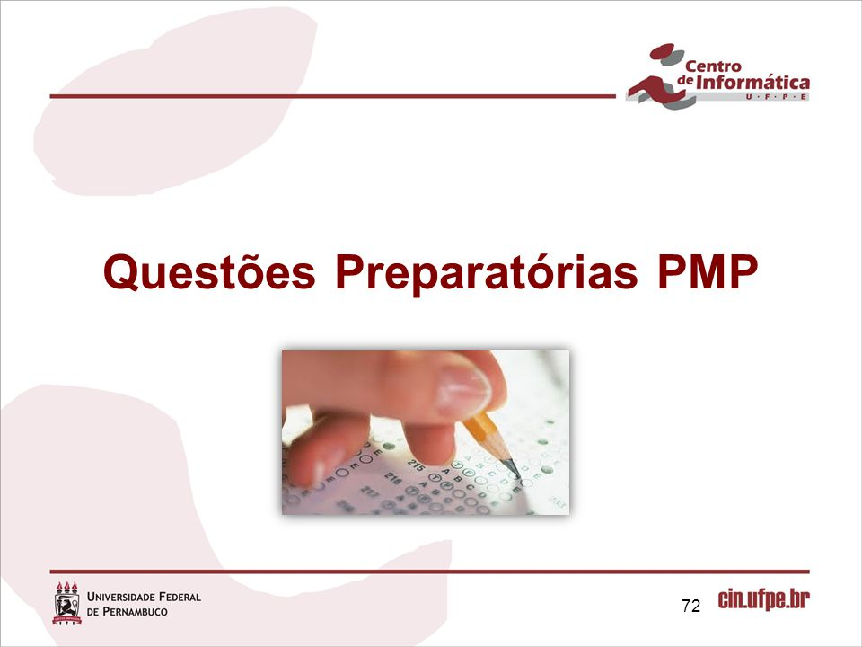 Questões Preparatórias PMP
