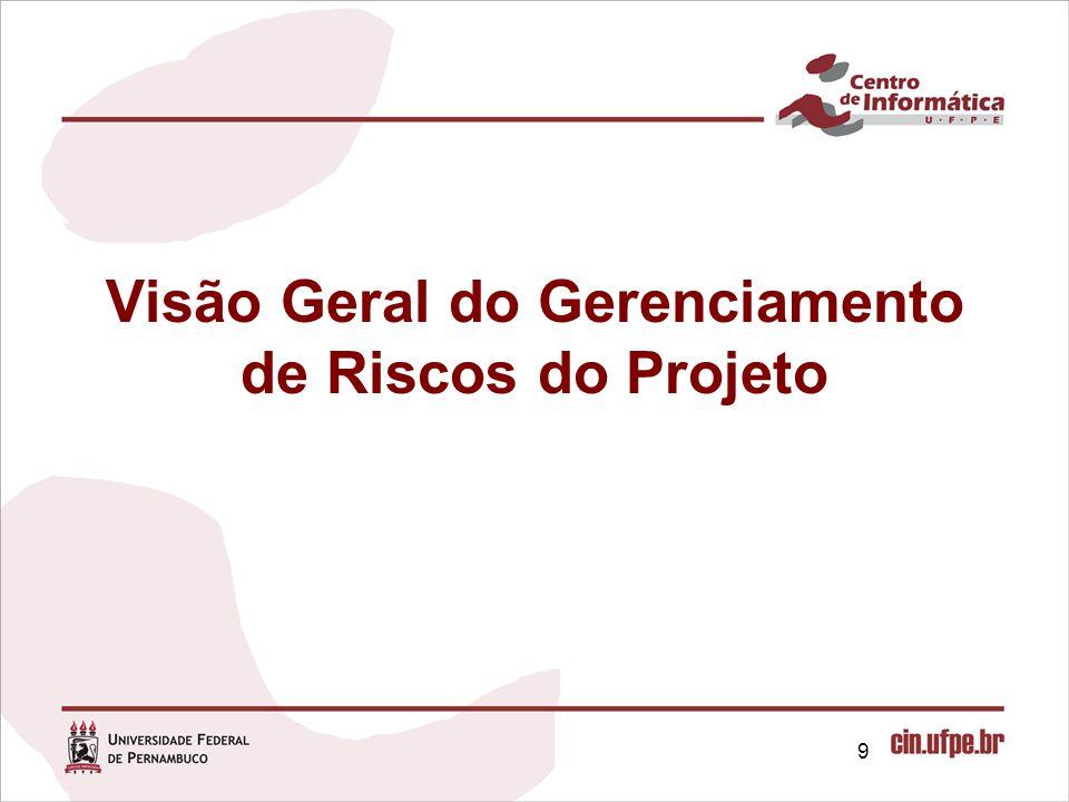 Visão Geral do Gerenciamento de Riscos do Projeto