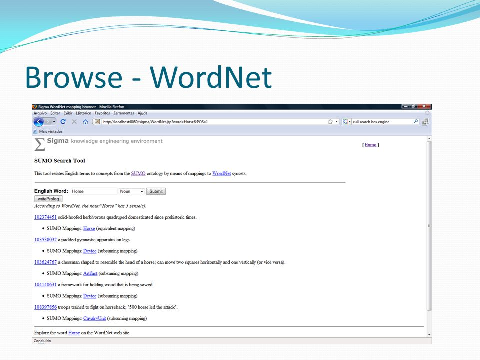 Browse - WordNet