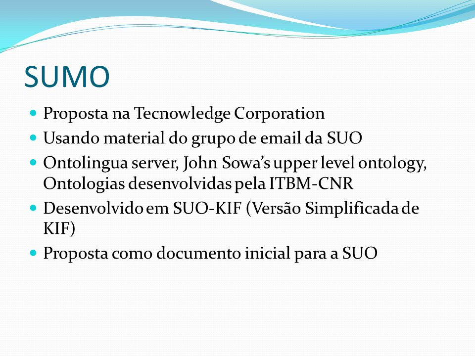 SUMO Proposta na Tecnowledge Corporation