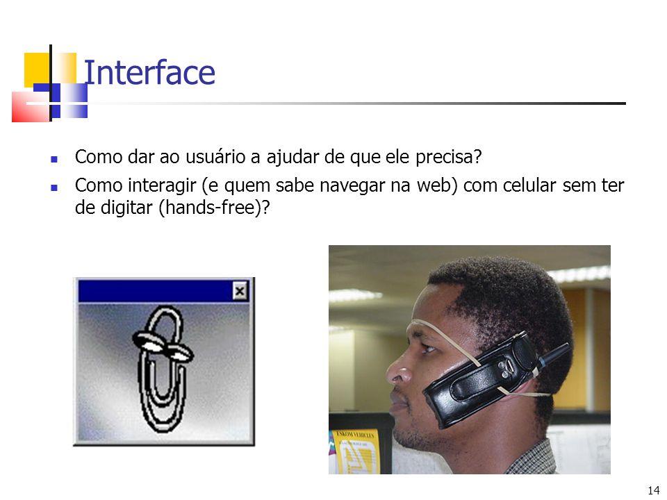 Interface Como dar ao usuário a ajudar de que ele precisa