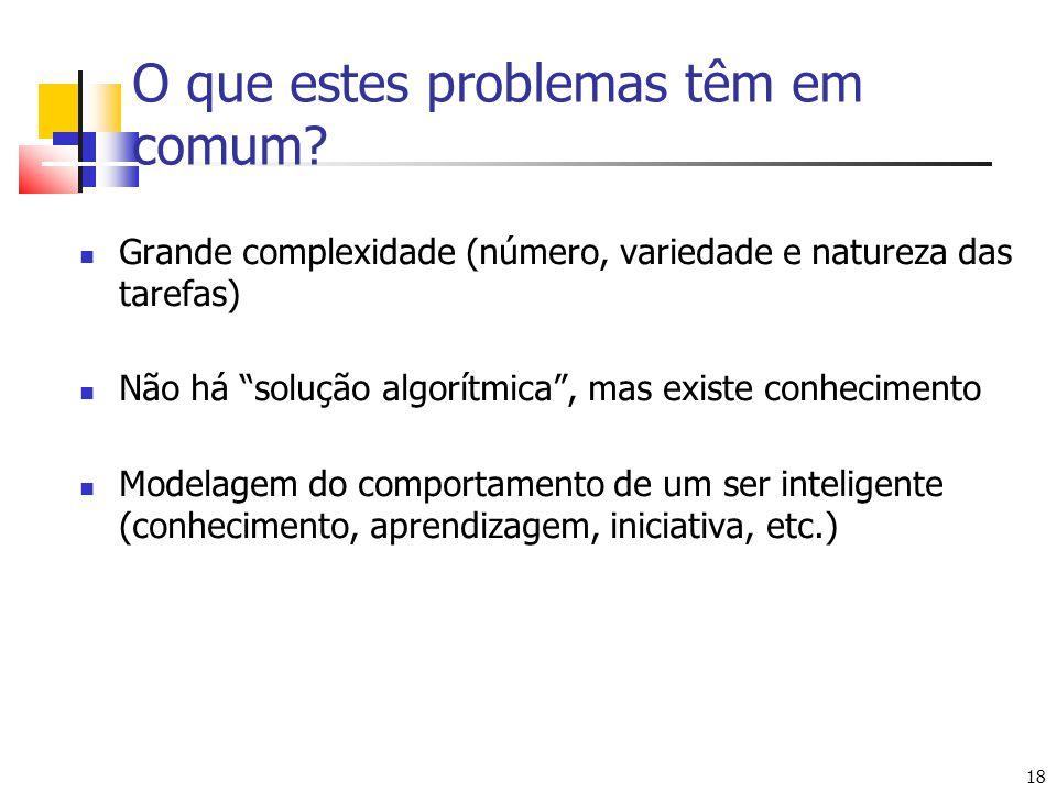 O que estes problemas têm em comum