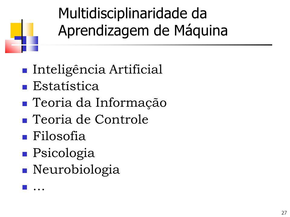 Multidisciplinaridade da Aprendizagem de Máquina