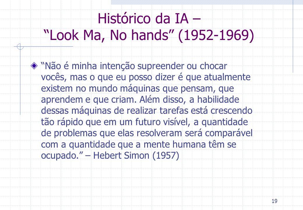 Histórico da IA – Look Ma, No hands (1952-1969)