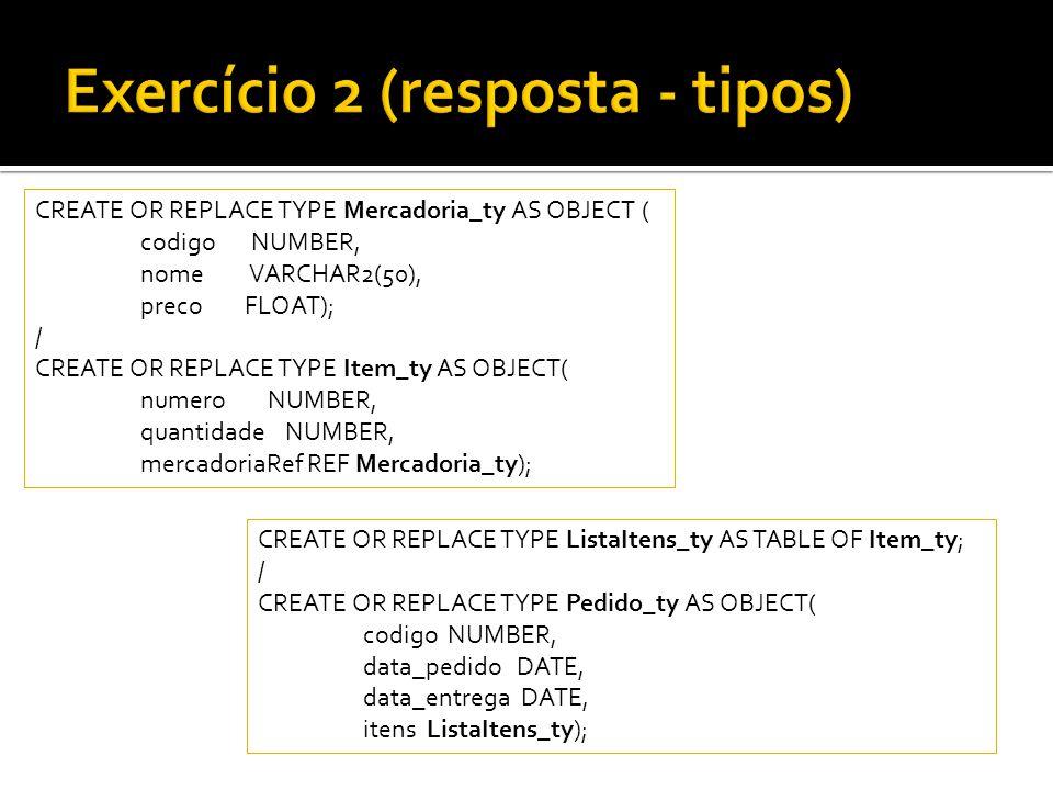 Exercício 2 (resposta - tipos)