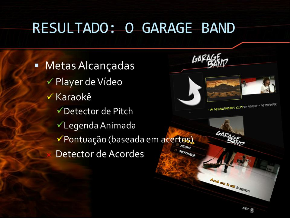RESULTADO: O GARAGE BAND
