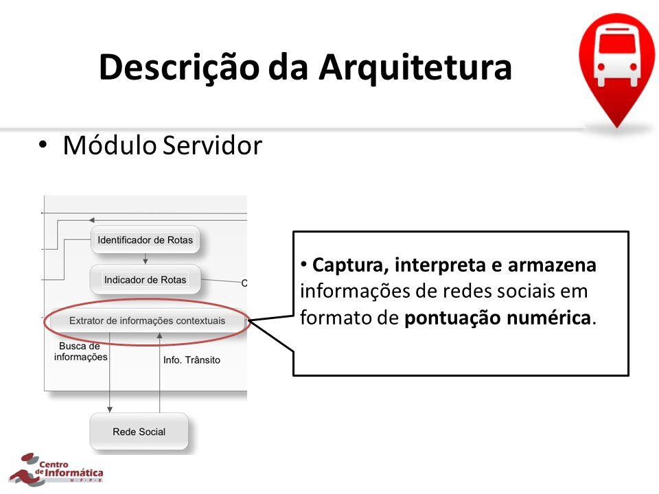 Descrição da Arquitetura