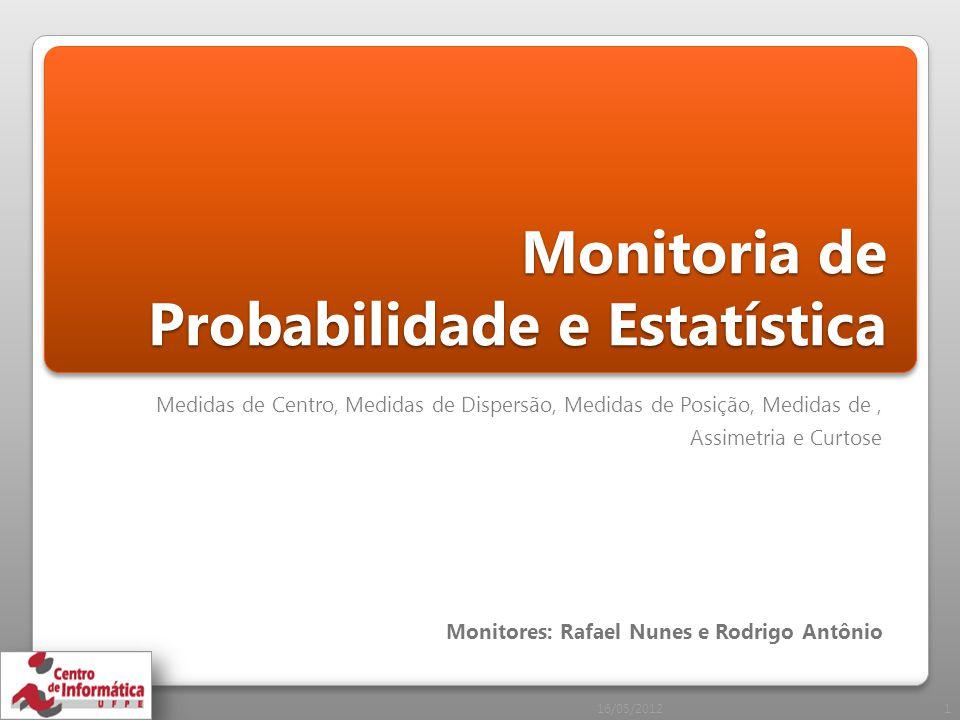 Monitoria de Probabilidade e Estatística