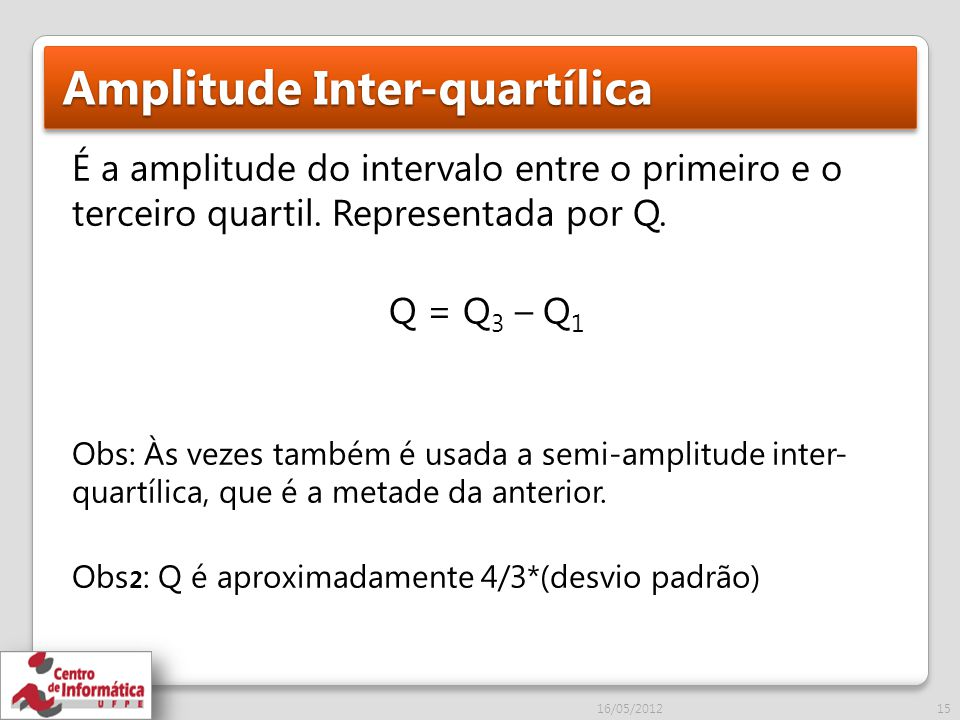 Amplitude Inter-quartílica