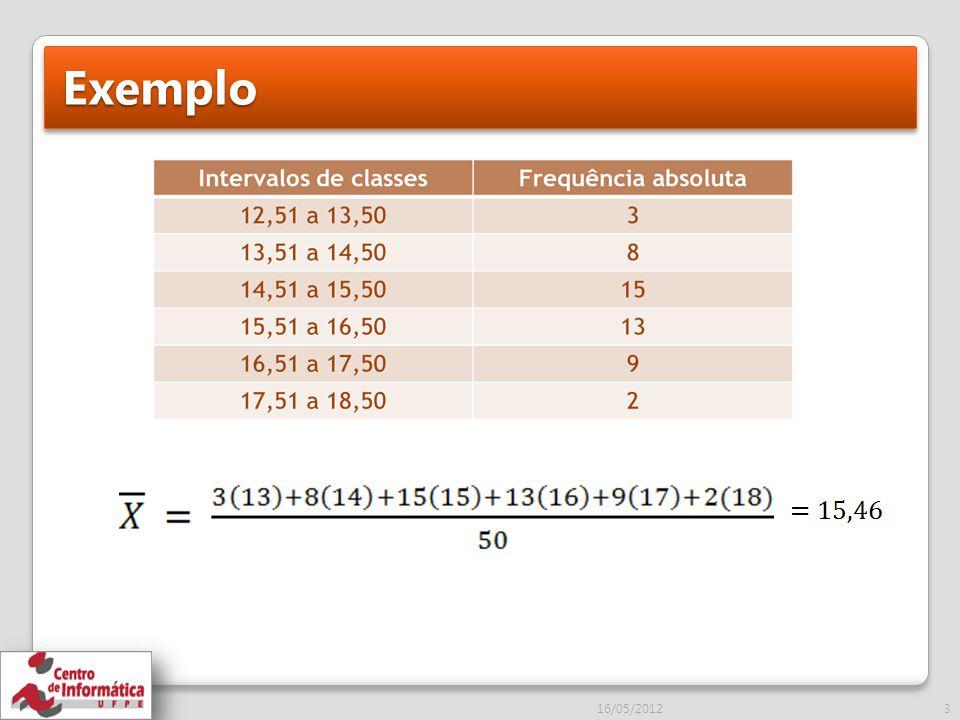 Exemplo 16/05/2012