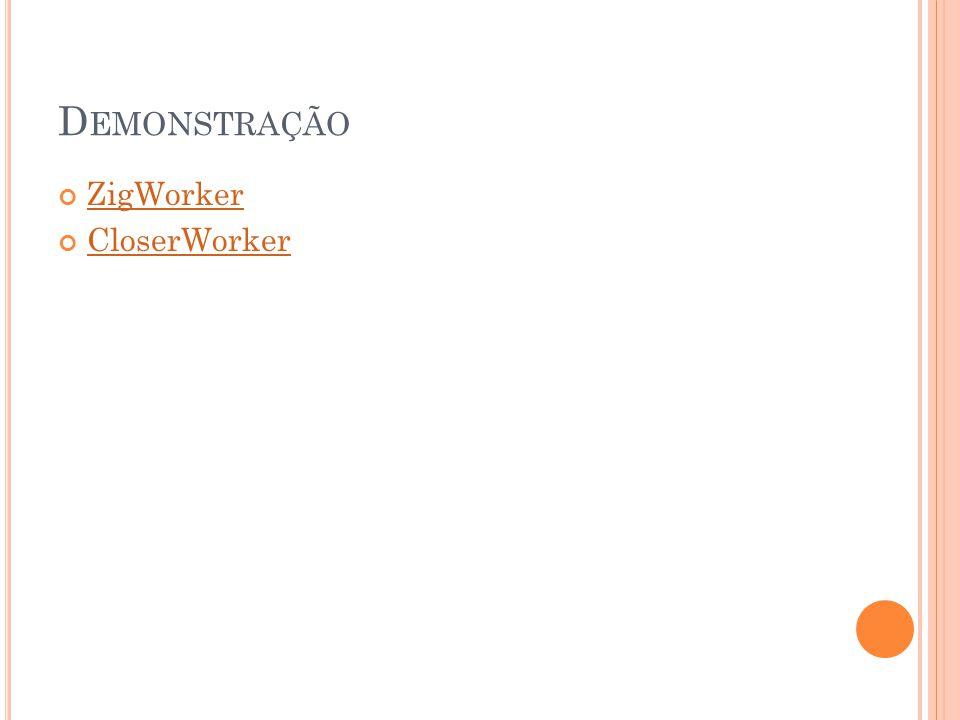 Demonstração ZigWorker CloserWorker