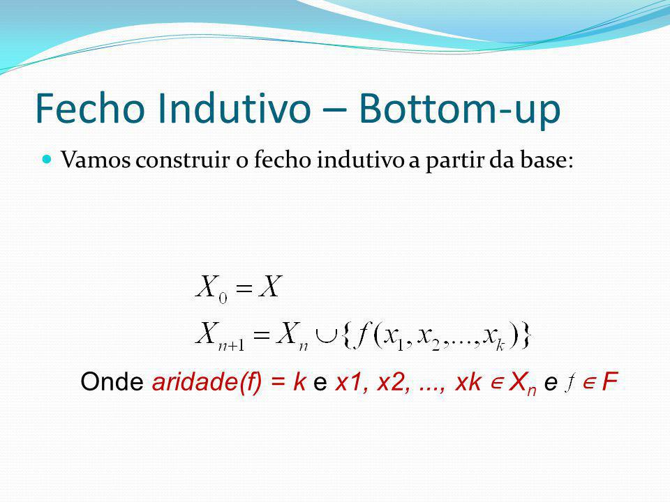 Fecho Indutivo – Bottom-up