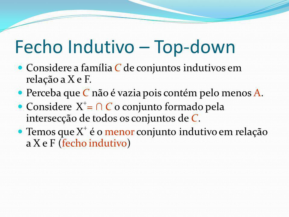 Fecho Indutivo – Top-down