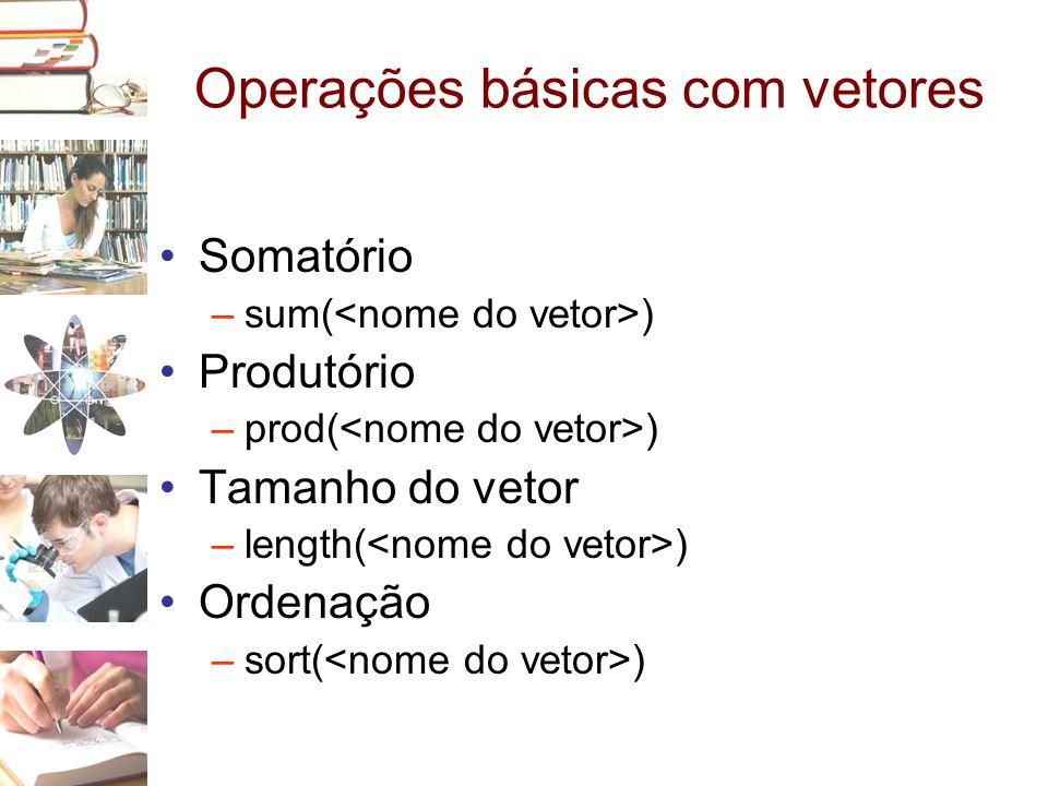 Operações básicas com vetores