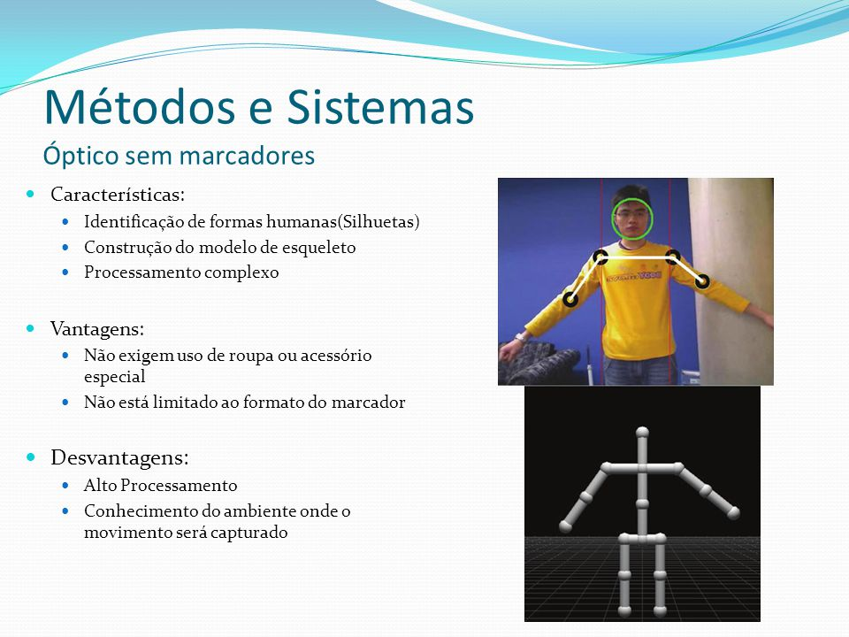 Métodos e Sistemas Óptico sem marcadores