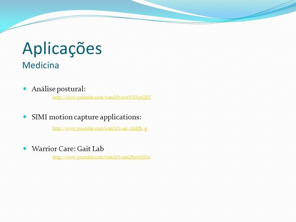 Aplicações Medicina Análise postural: