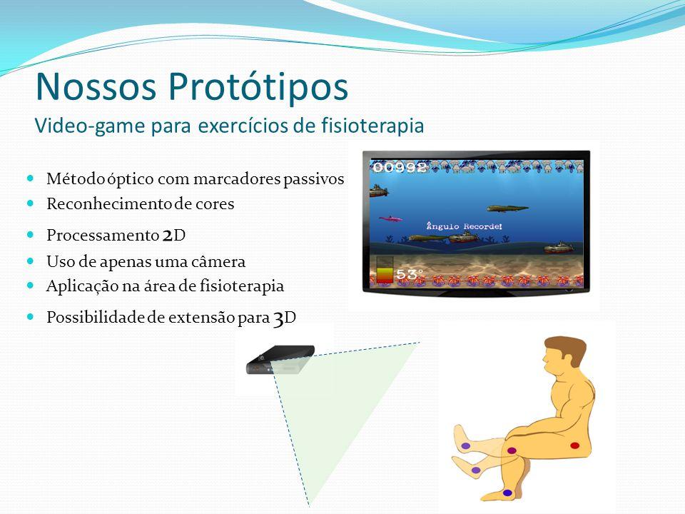 Nossos Protótipos Video-game para exercícios de fisioterapia