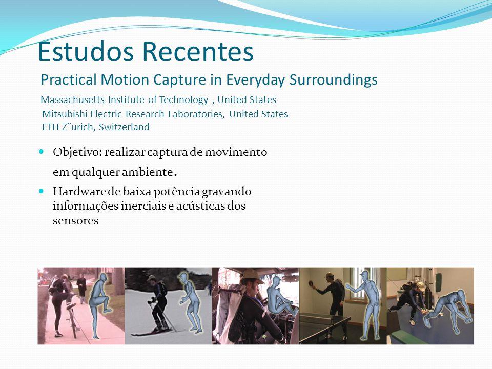 Objetivo: realizar captura de movimento em qualquer ambiente.