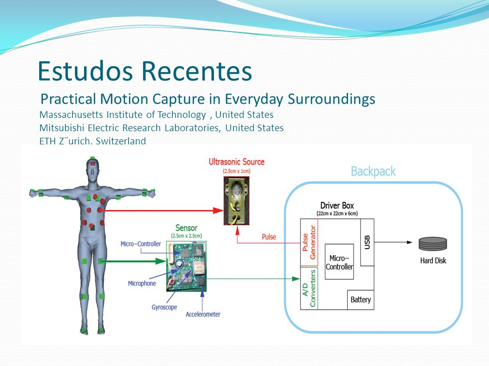 Estudos Recentes Practical Motion Capture in Everyday Surroundings Massachusetts Institute of Technology , United States Mitsubishi Electric Research Laboratories, United States ETH Z¨urich, Switzerland