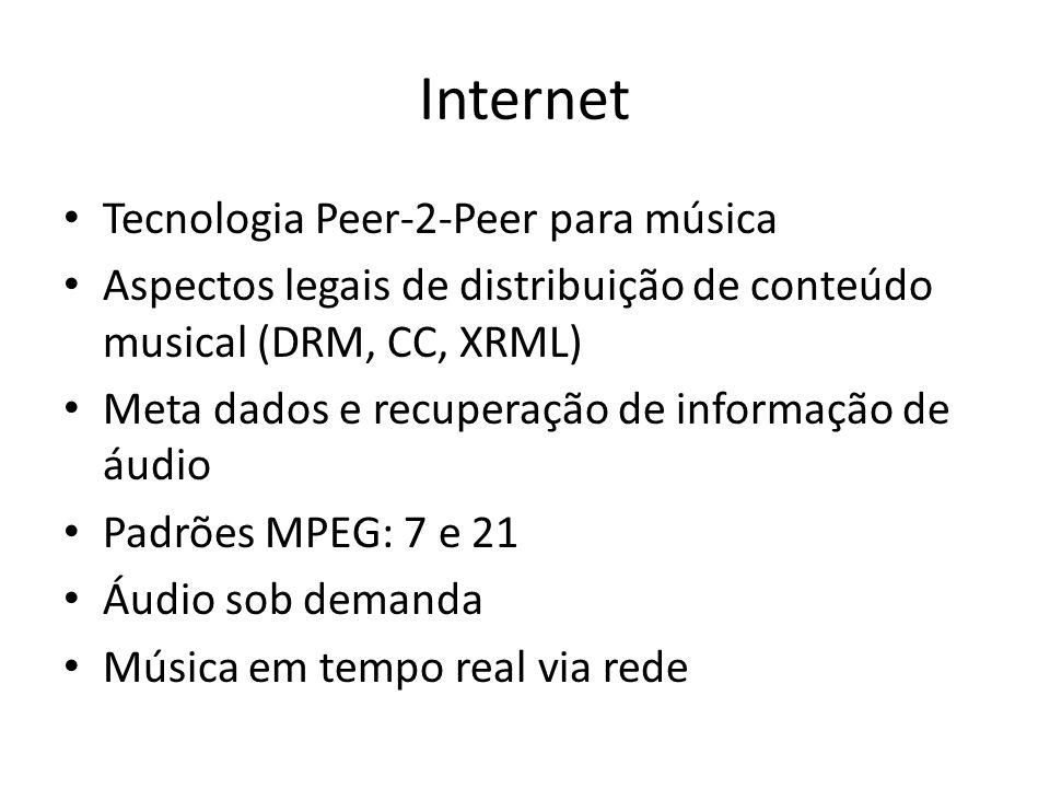 Internet Tecnologia Peer-2-Peer para música
