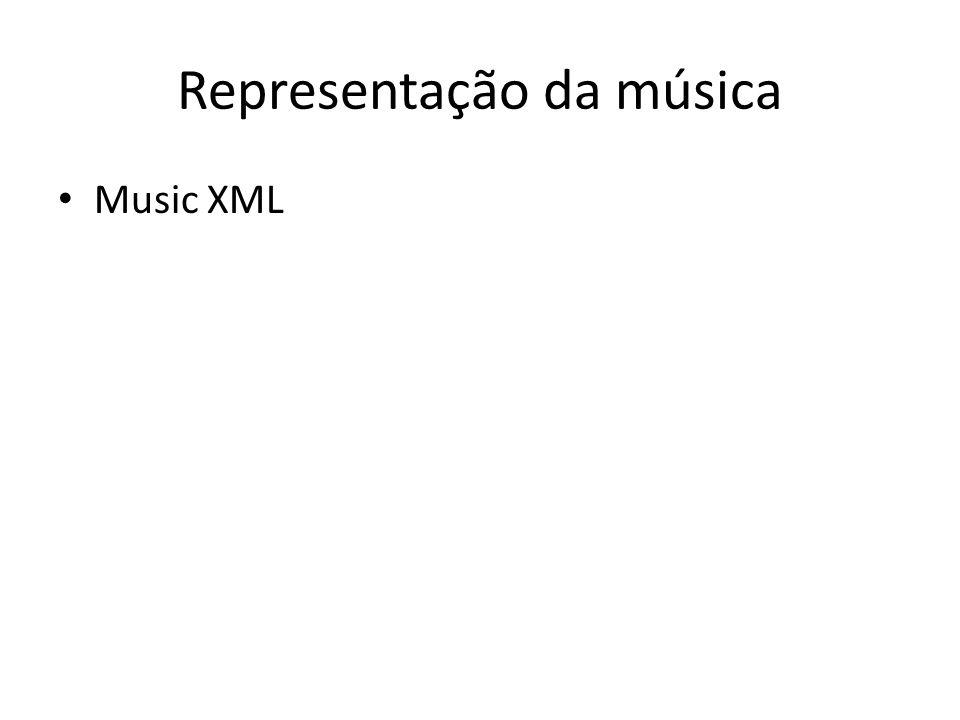 Representação da música