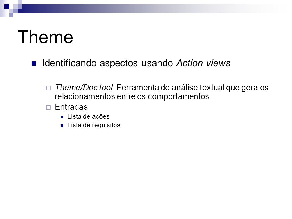 Theme Identificando aspectos usando Action views