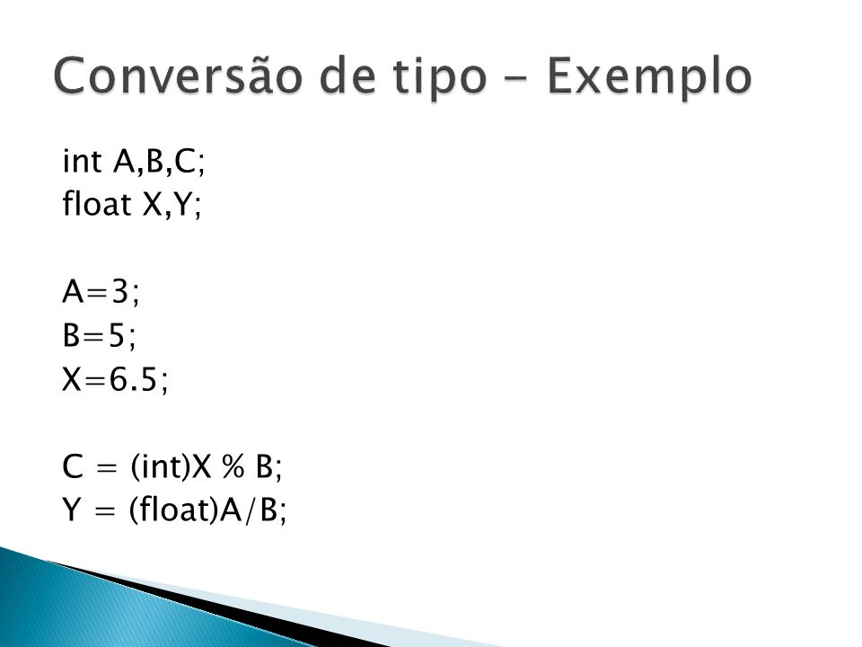 Conversão de tipo - Exemplo