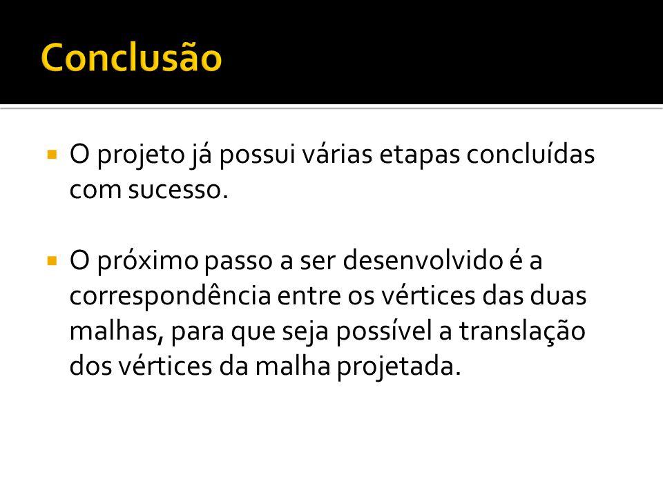 Conclusão O projeto já possui várias etapas concluídas com sucesso.
