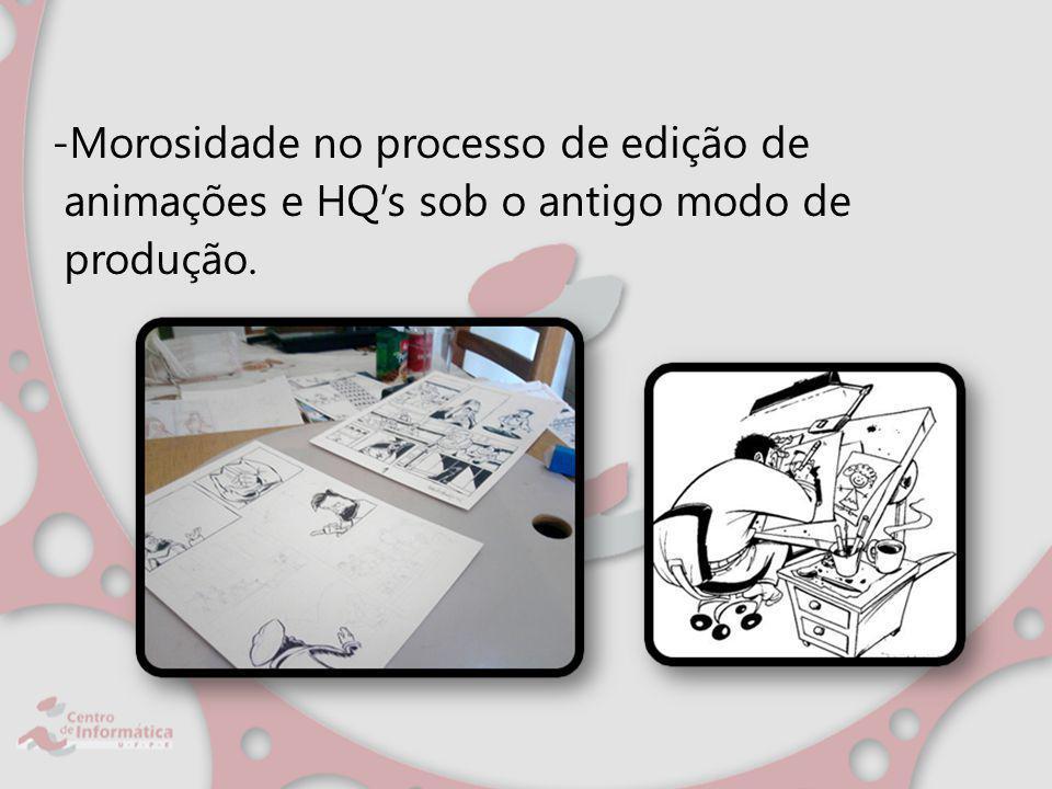 -Morosidade no processo de edição de animações e HQ's sob o antigo modo de produção.