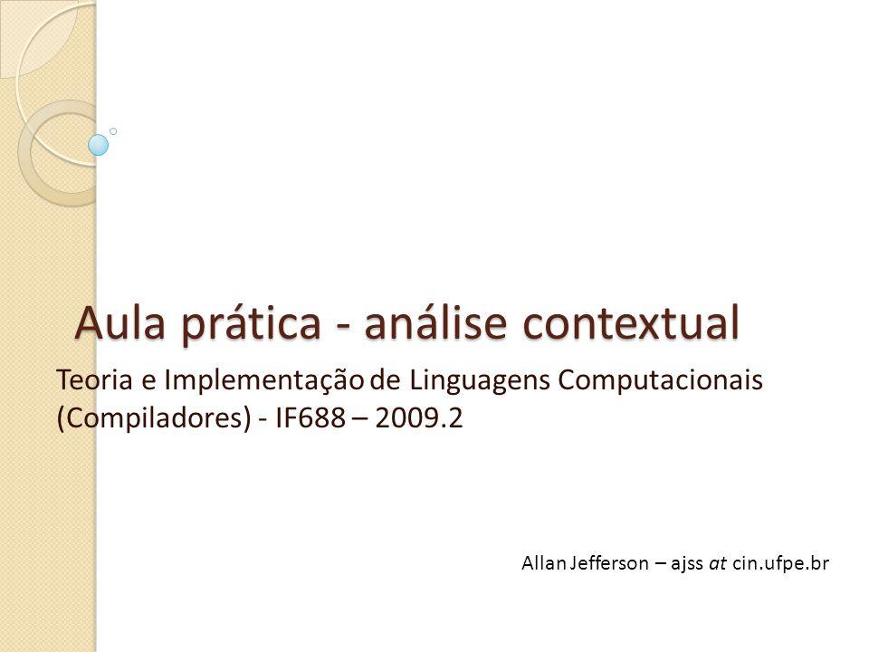 Aula prática - análise contextual