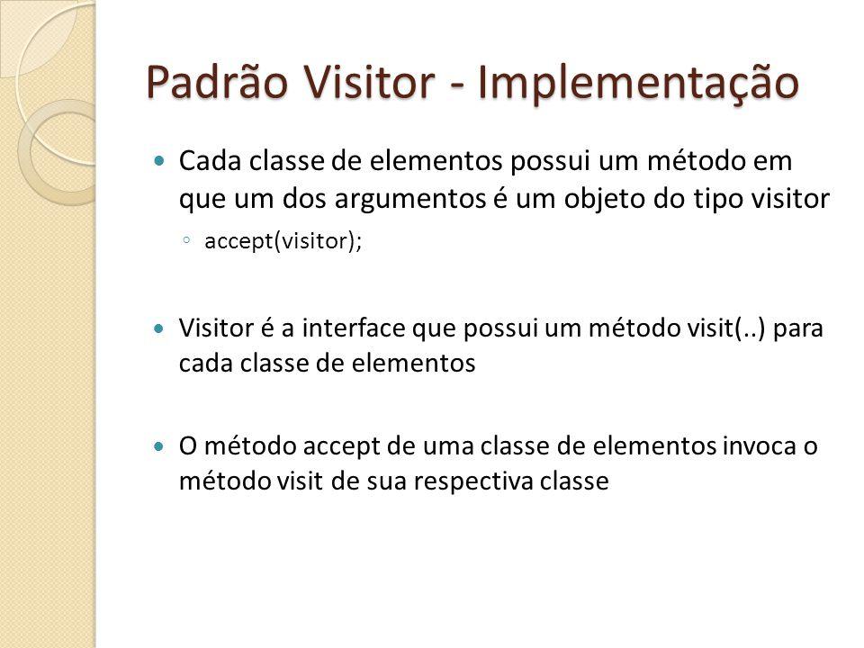 Padrão Visitor - Implementação