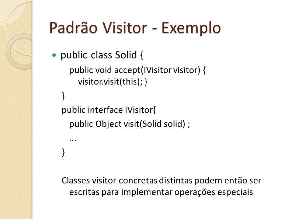 Padrão Visitor - Exemplo