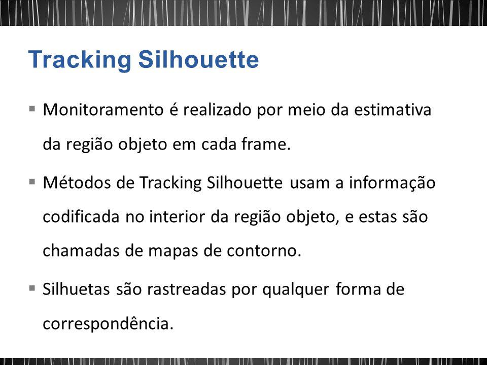 Tracking Silhouette Monitoramento é realizado por meio da estimativa da região objeto em cada frame.