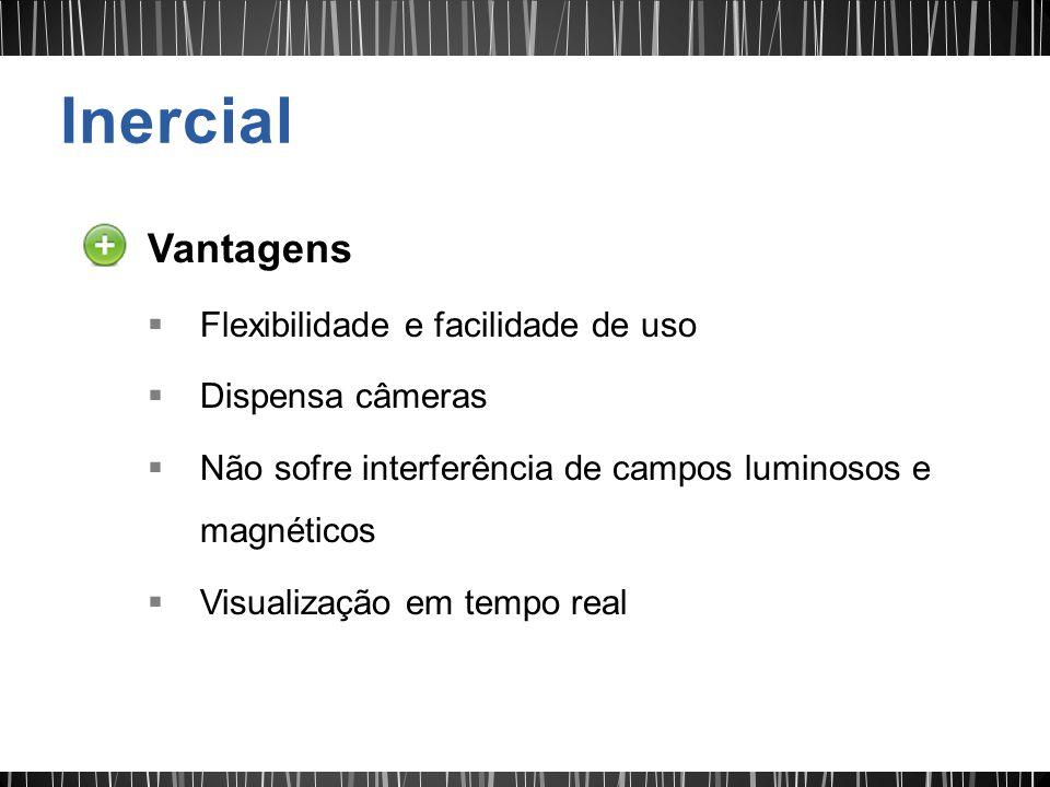 Inercial Vantagens Flexibilidade e facilidade de uso Dispensa câmeras