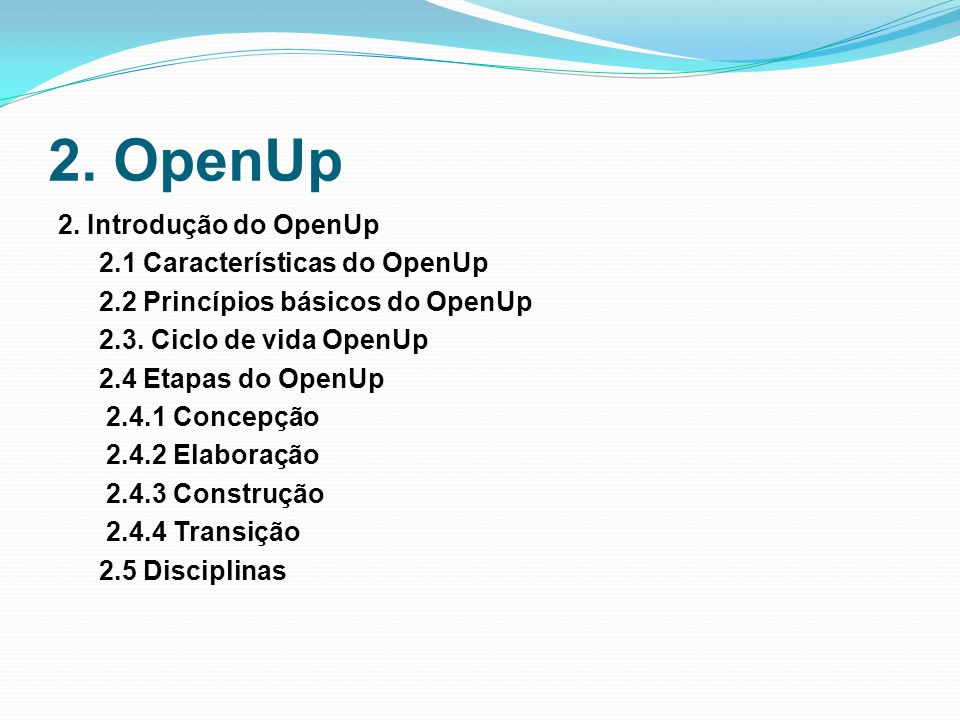 2. OpenUp