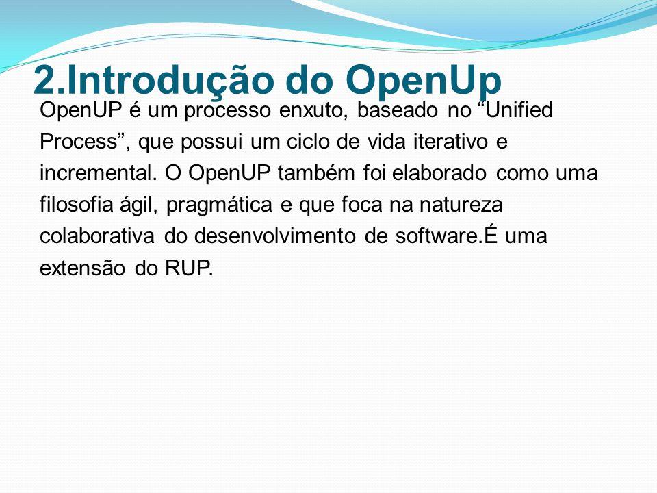 2.Introdução do OpenUp
