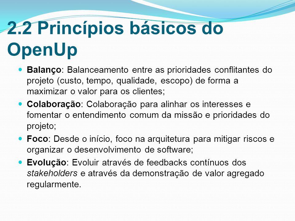 2.2 Princípios básicos do OpenUp