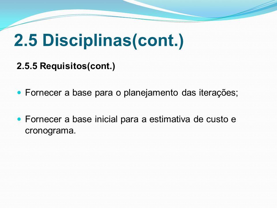 2.5 Disciplinas(cont.) 2.5.5 Requisitos(cont.)