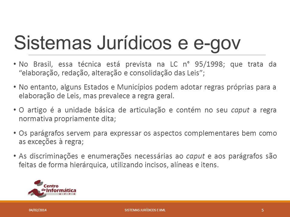 Sistemas Jurídicos e e-gov