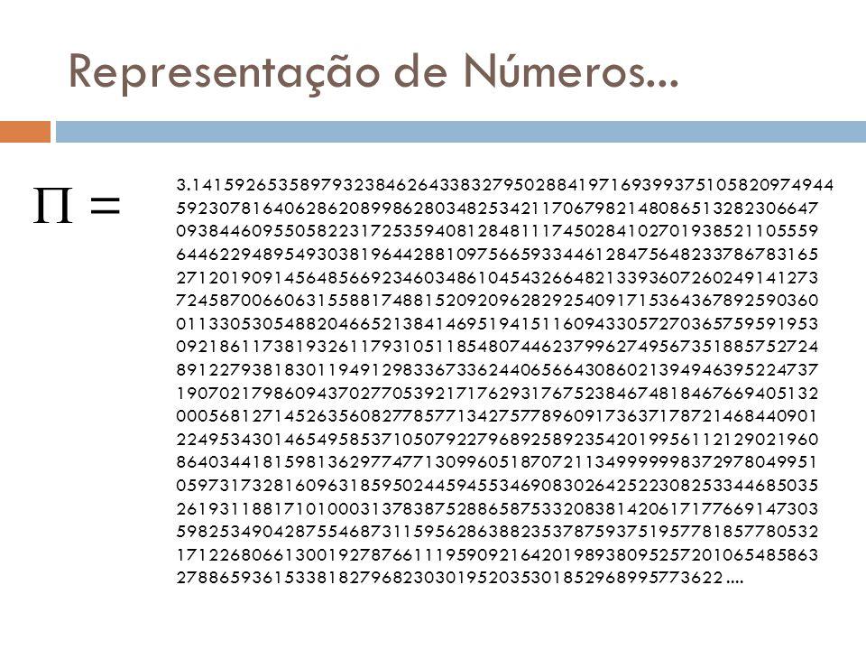 Representação de Números...