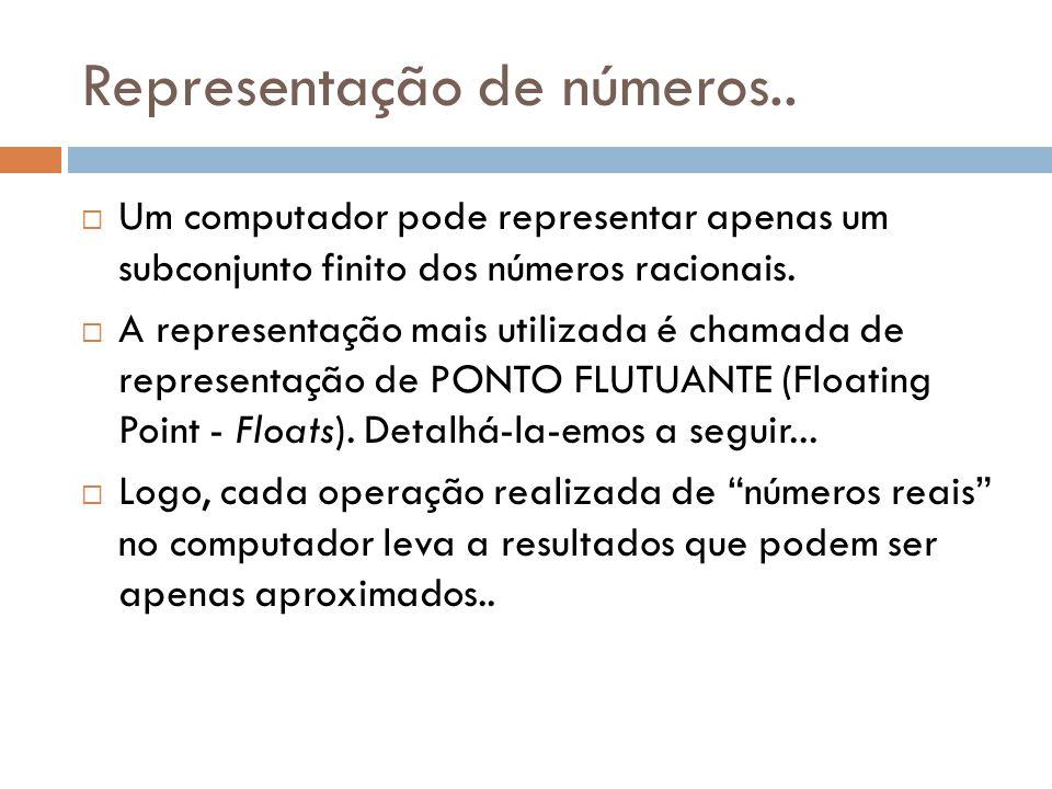 Representação de números..