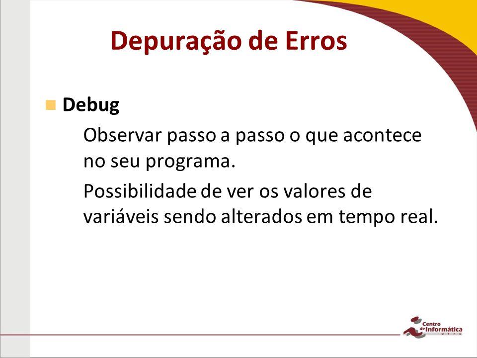 Depuração de Erros Debug