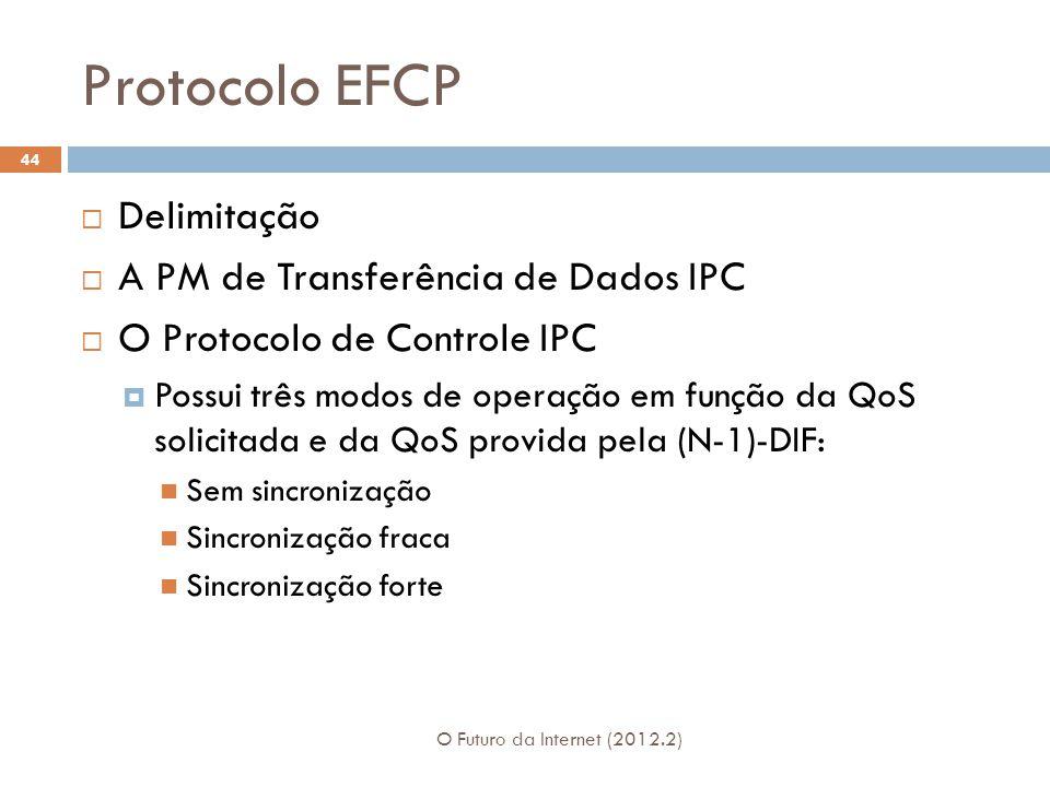 Protocolo EFCP Delimitação A PM de Transferência de Dados IPC